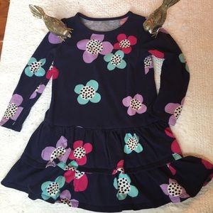 Gymboree Navy Floral Long Sleeve Dress Size 4